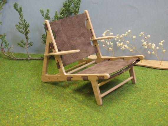 Miniatuur Design Meubels : Jacht stoel schaal replica model miniatuur door minimodels