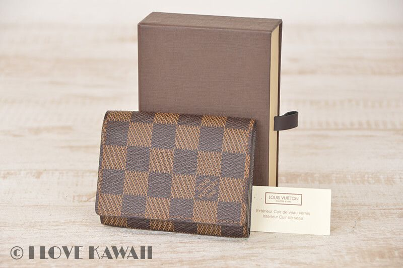 Louis Vuitton Damier Ebene Enveloppe Cartes De Visite Card Case N62920