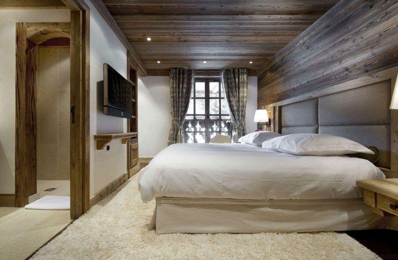 Architecture: Chambre A Coucher Bois Lit Design Chalet ...