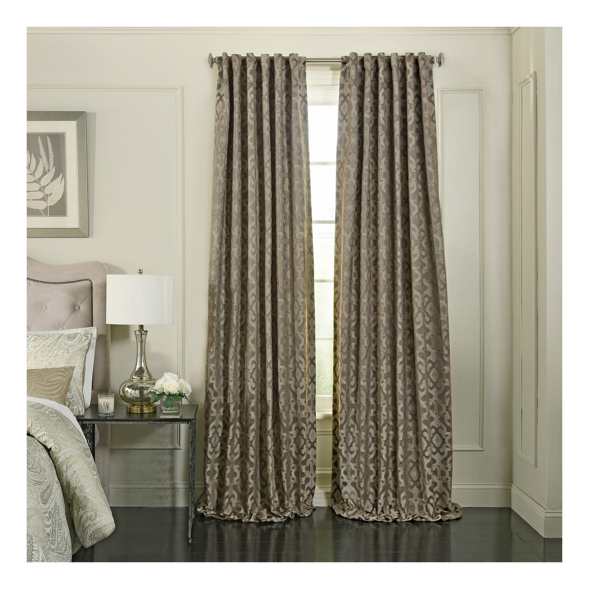 Beautyrest normandy blackout window curtain mushroom browntrellis