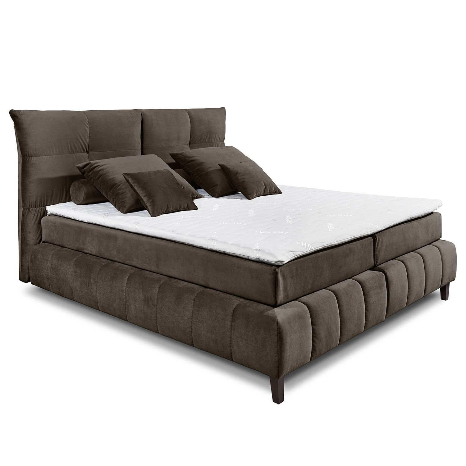 Bett 90x200 Buche Home24 Boxspringbett Norias Inkl Topper In 2019 Betten Bed