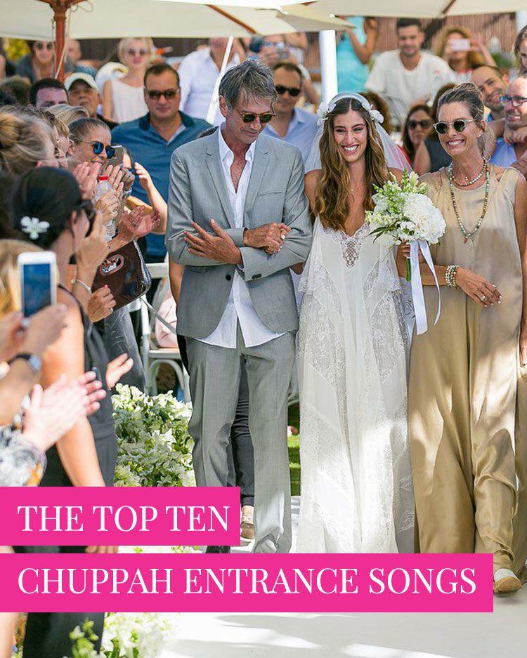 Top 10 Chuppah Entrance Songs Smashing The Glass Jewish Wedding Blog Wedding Chuppah Top Wedding Entrance Songs Jewish Wedding