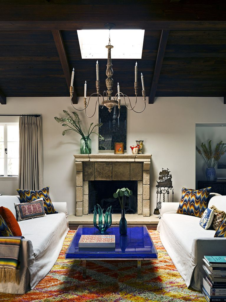 living room in blue%0A SANTA MONICA SPANISH   Jeffrey Alan Marks  Living Room