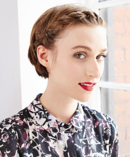 a twisty holiday 'do for girls with short hair