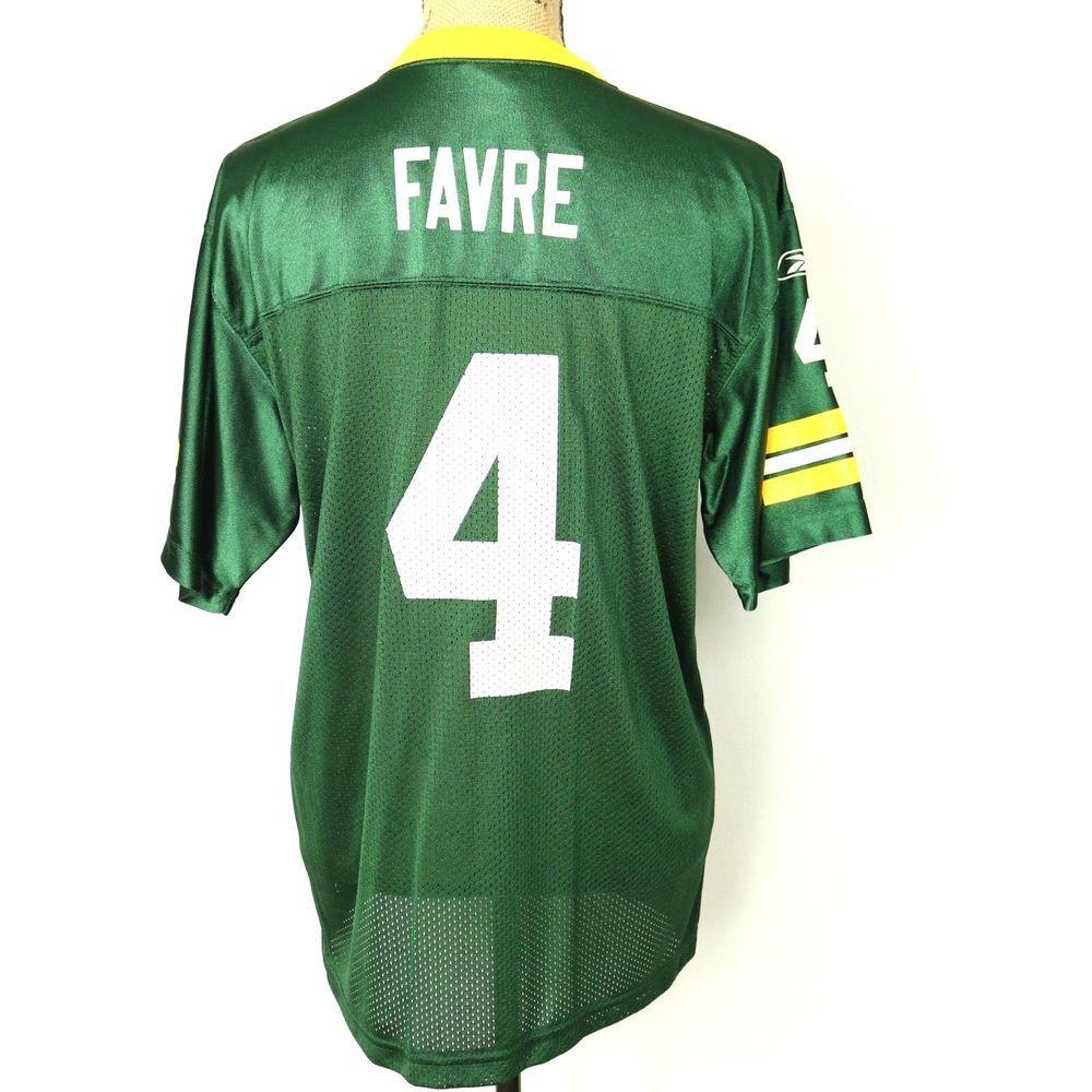 san francisco c0b9a c9dc5 Brett Favre 4 Green Bay Packers Authentic Reebok Jersey ...