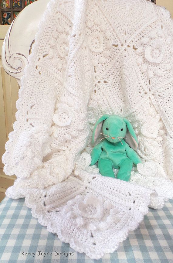 PURE LOVE - Crochet Blanket Pattern Crochet Heart Blanket Pattern ...