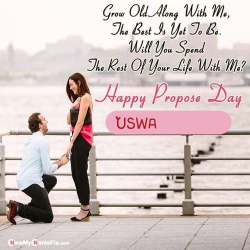 Girlfriend Propose Beautiful Name And Photo Wishes in 2020