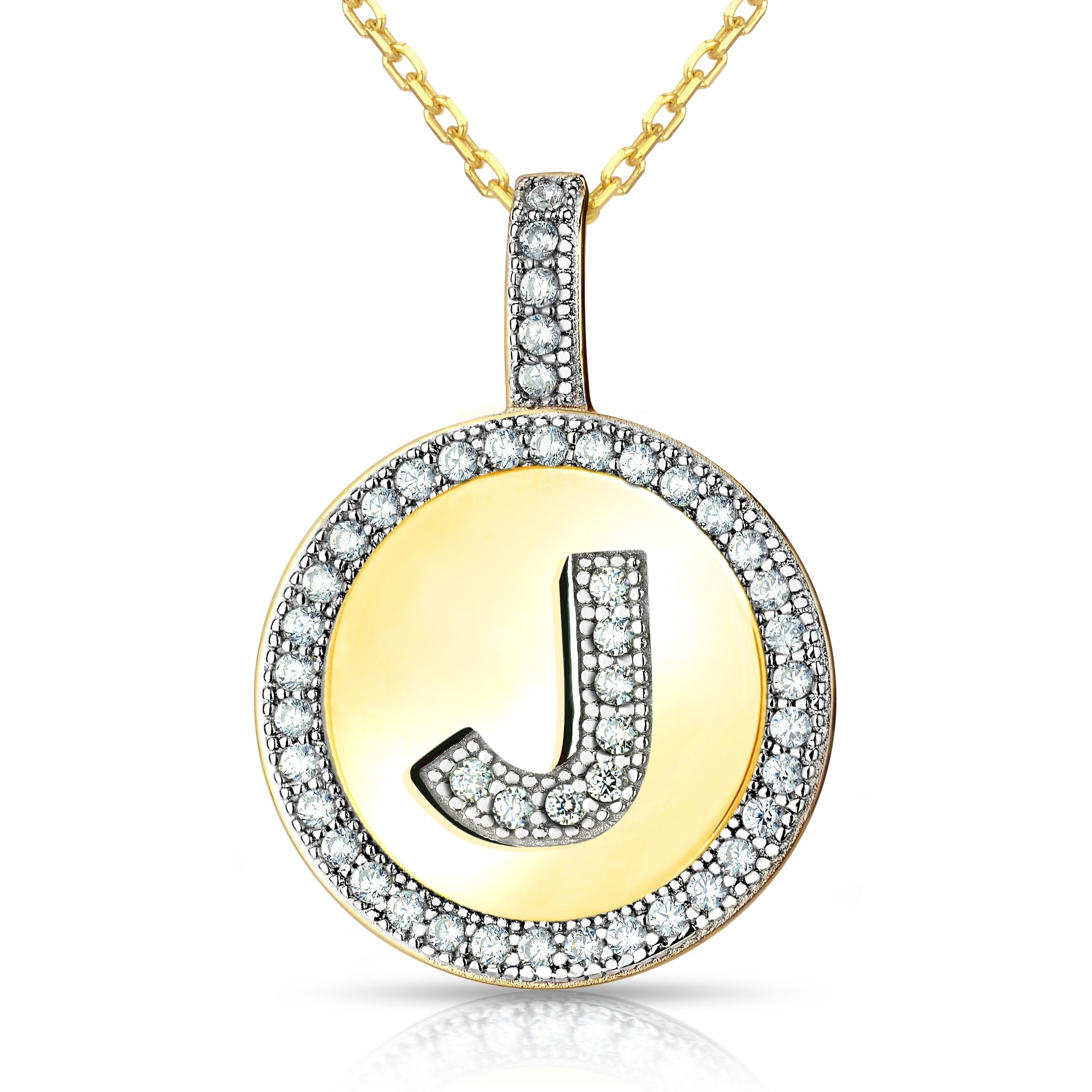 La preciosa sterling silver or gold plated micro pave cubic zirconia la preciosa sterling silver or gold plated micro pave cubic zirconia initial circle pendant necklace mozeypictures Gallery