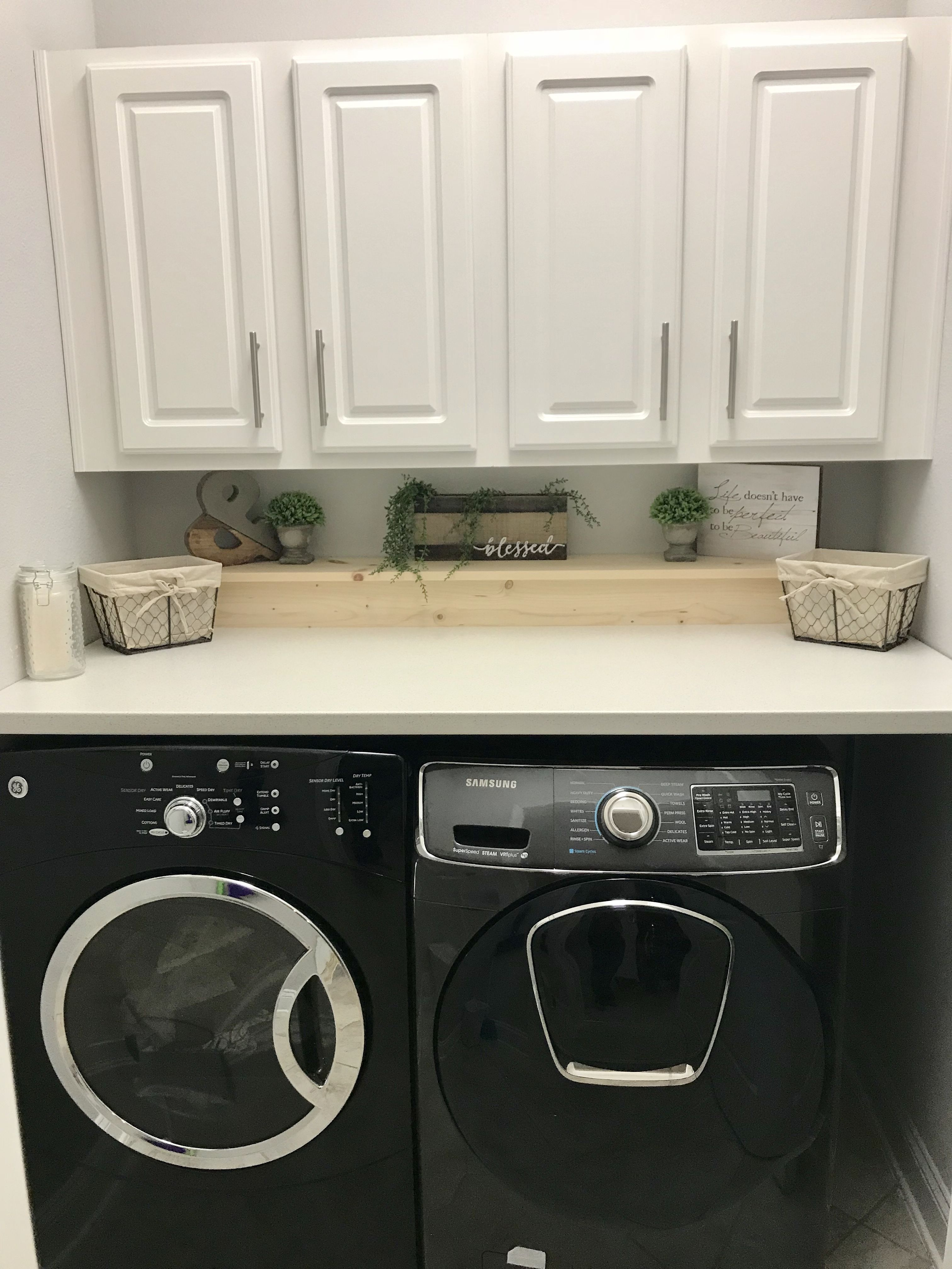 Ikea Countertop And Handmade Removable Shelf To Hide The Plumbing
