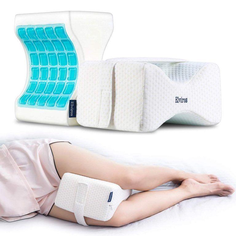 Elviros Memory Foam Knee Pillow In 2020 Knee Pillow Leg Pillow Side Sleeper