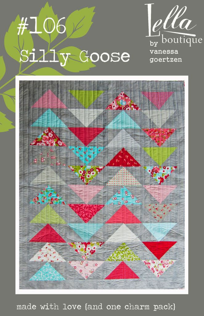 Silly Goose quilt pattern - one charm pack $7.95 Lella Boutique ... : silly goose quilt pattern - Adamdwight.com