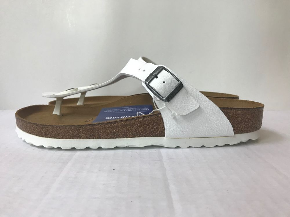 943e5202d4b2 NIB Birkenstock Gizeh White Thong Sandals Sz 40 US 9 Women s  fashion   clothing