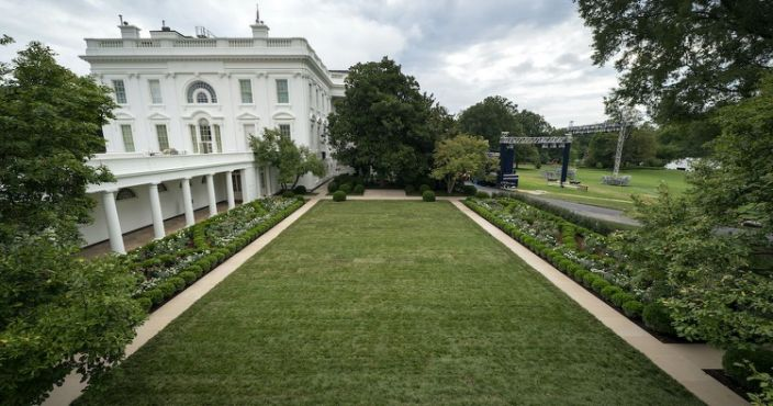 Melania Trump Unveils Newly Renovated Rose Garden To Mixed