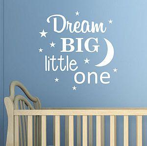 'Dream Big Little One' Wall Sticker - wall stickers
