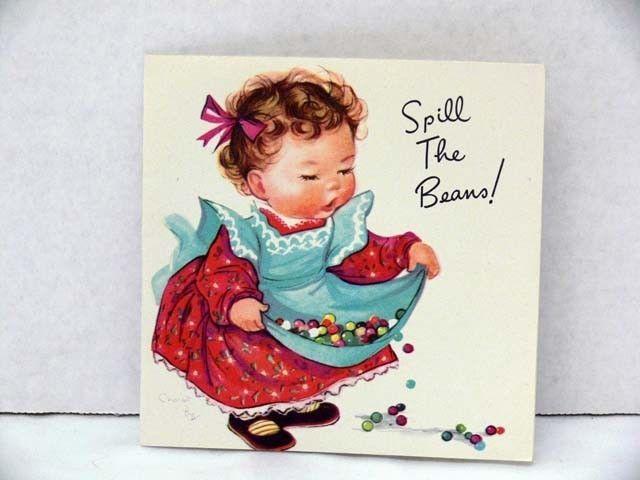 VINTAGE CHARLOTTE CHARLOT BYJ UNUSED GREETING CARD GIRL ADORABLE EX CON  picclick.com