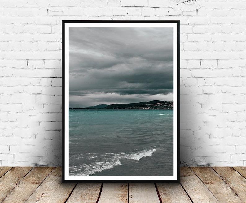 Coastal Photography Printsset Of 3 Lake Wall Art Printswaves Etsy Lake Wall Art Wall Art Prints Printable Wall Art