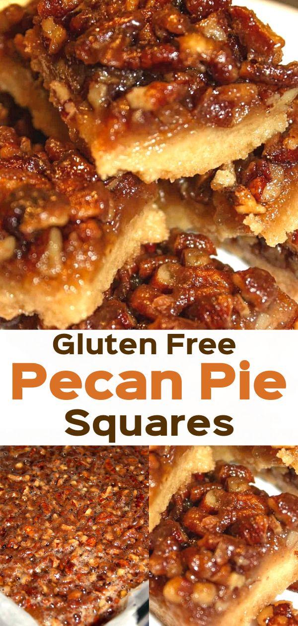 Gluten Free Pecan Pie Squares