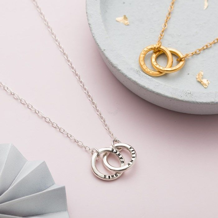 c88a196f2 Personalised Posh Totty Designs Double Hoop Names Necklace |  GettingPersonal.co.uk