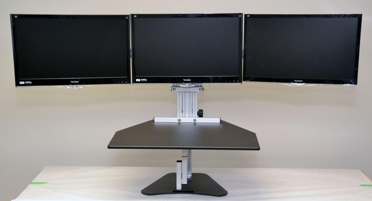 Ergo Desktop Kangaroo Tri Elite Standing Desk Adjustable Height
