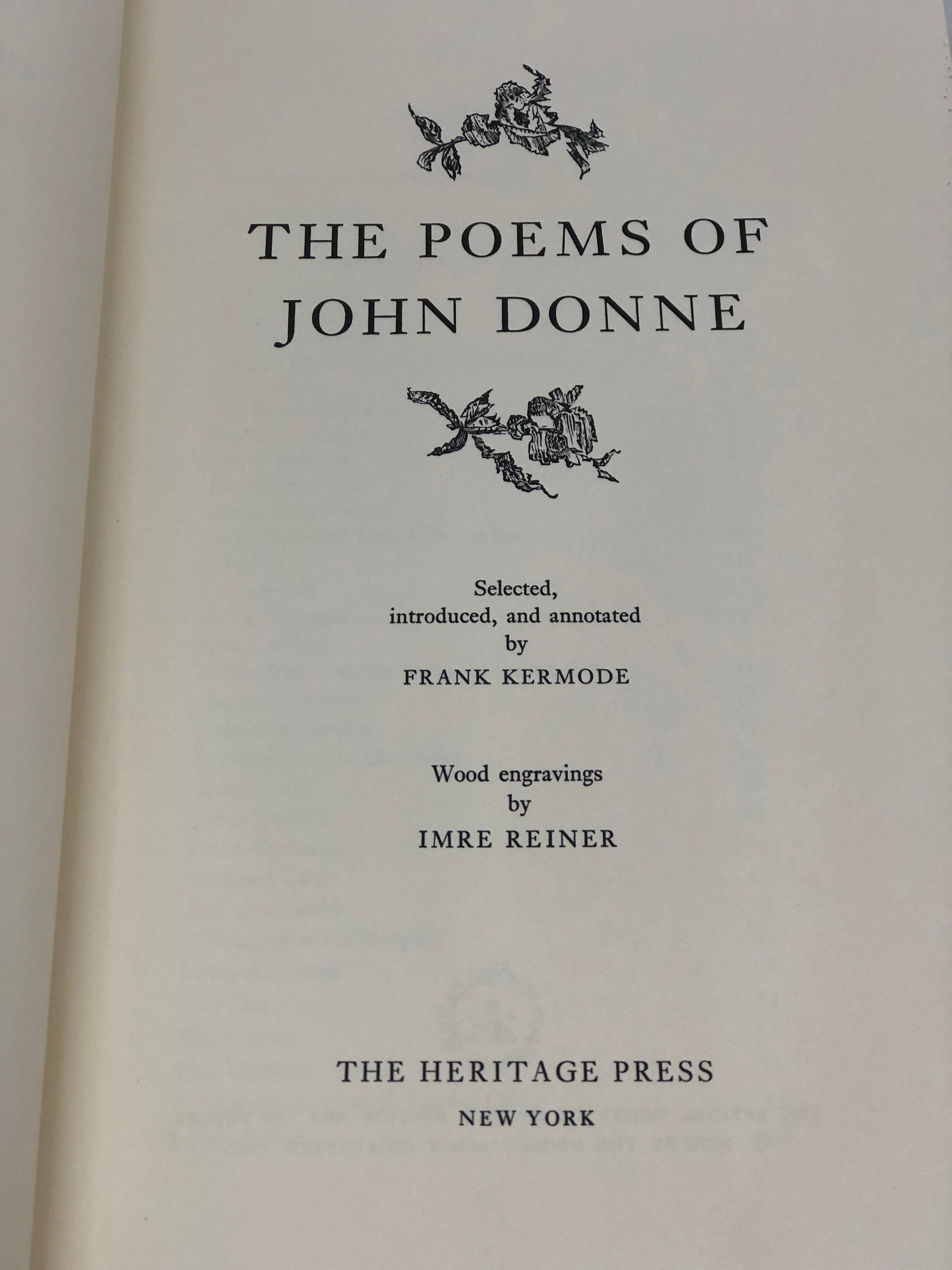 The Poems Of John Donne Heritage Press Sandglass 1970 George Macy Co Limited Edition Collectible 20th Century Poems John Heritage