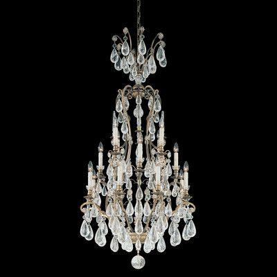Schonbek Versailles Rock Crystal 16 Light Crystal Chandelier Finish: Heirloom Gold