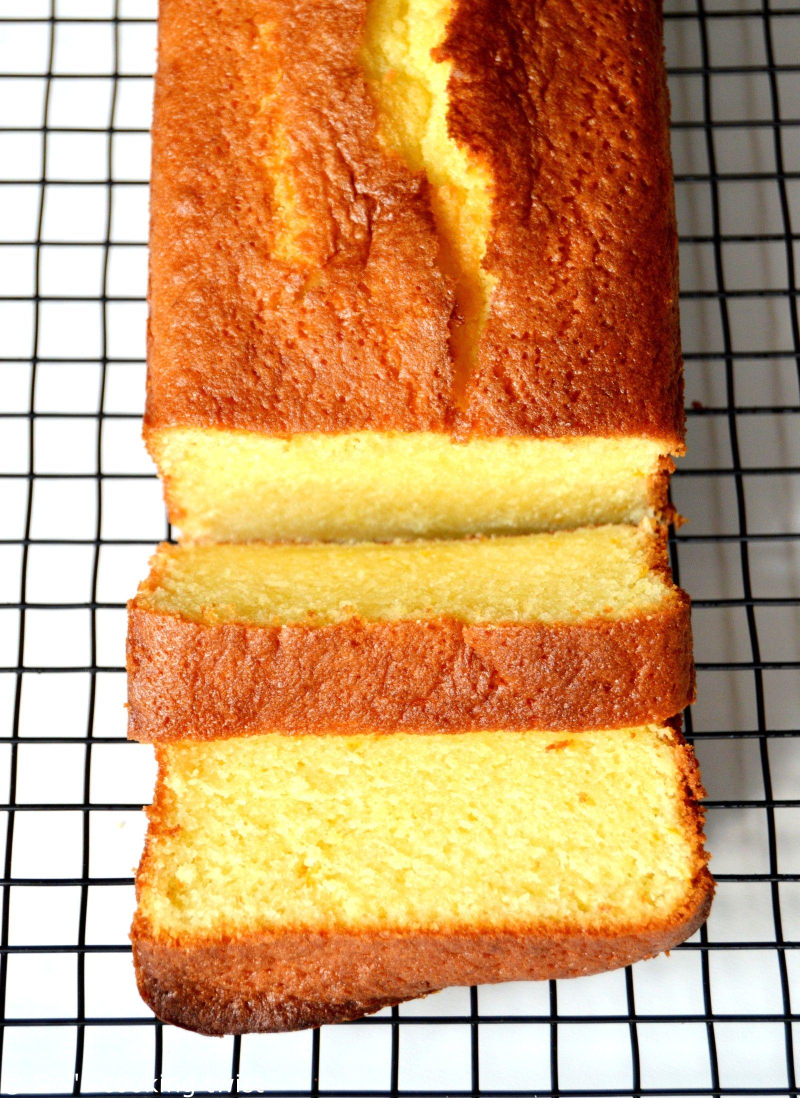 Cake à lorange ultra moelleux
