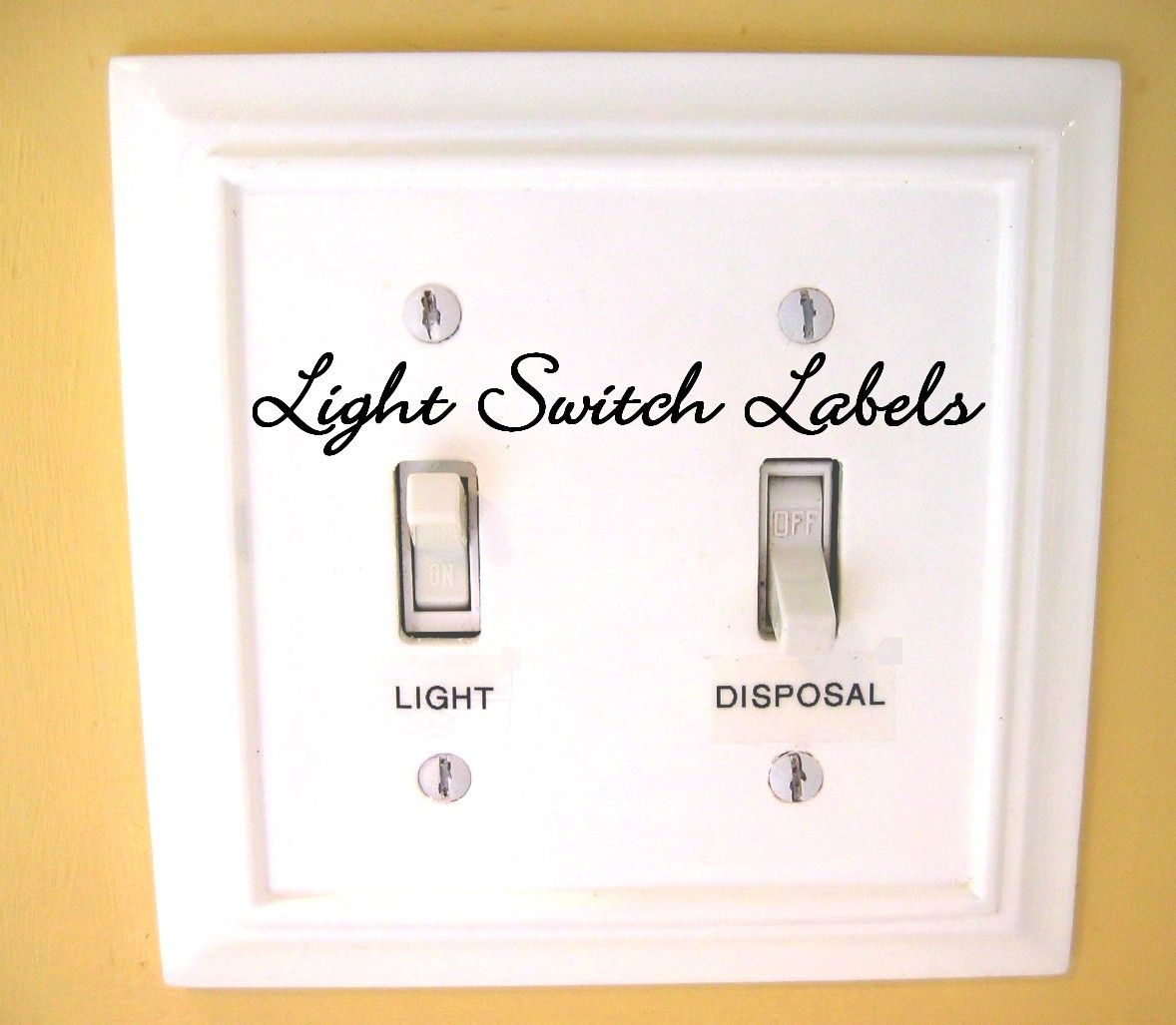 light switch labels   For the Home   Pinterest   Light switches and ...