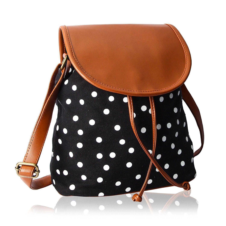 Kleio Women s Sling Bag (Black And Brown) Rs.435  fda4d544f14da