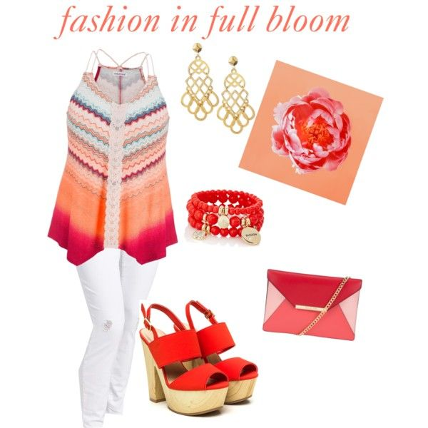 fashion in full bloom by valenise-duncan on Polyvore featuring polyvore fashion style Old Navy maurices MICHAEL Michael Kors Tory Burch The Limited