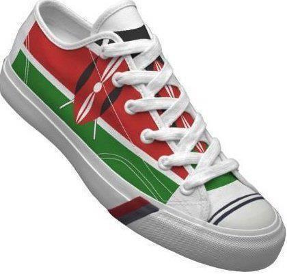 reputable site 09580 302c0 Kenya Flag Shoes