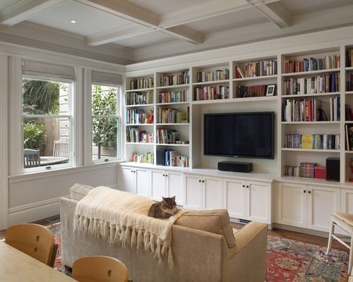Family Room Design Ideas Remodels Photos With A Built In Media Wall Houzz