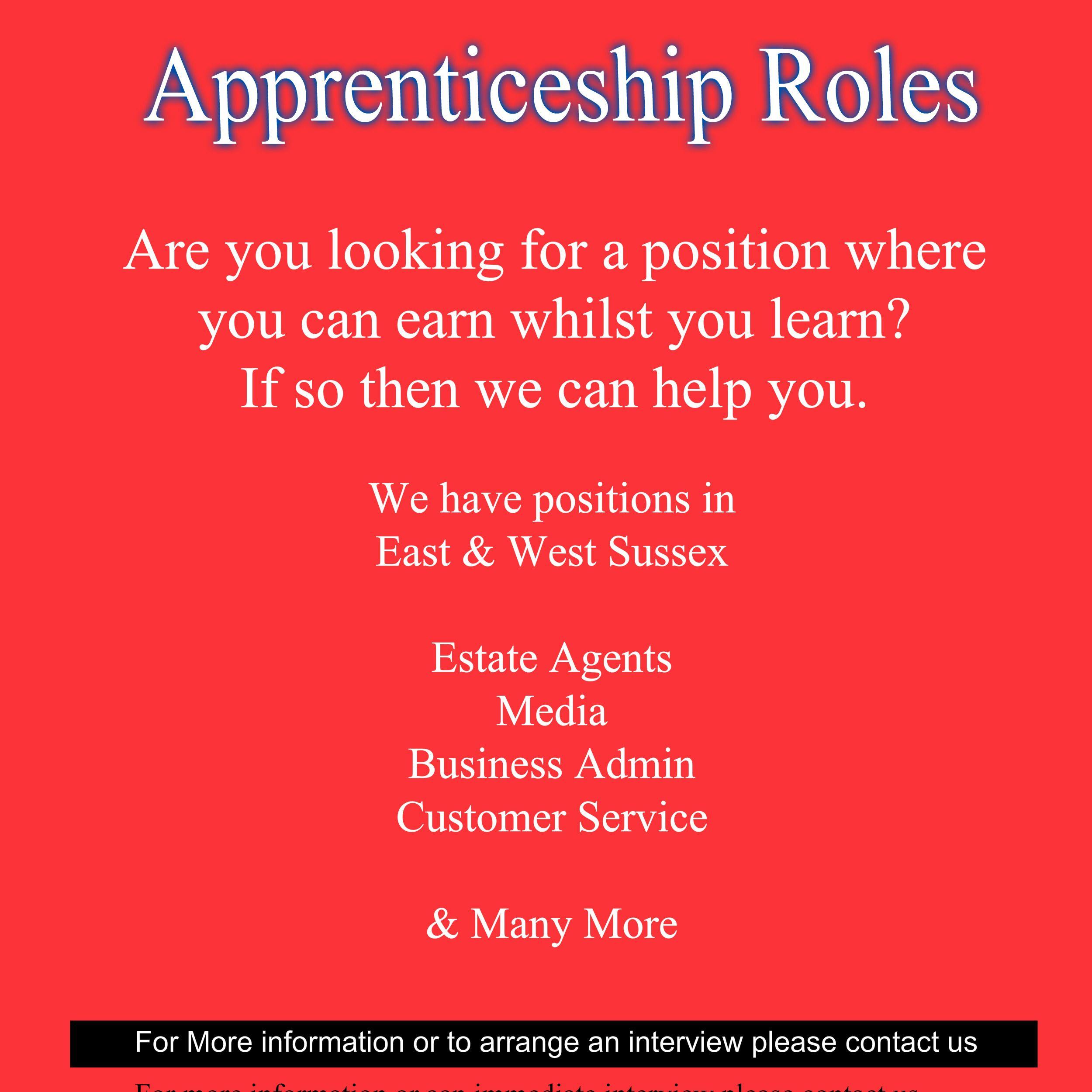 Apprenticeship Job Vacancies waiting for you! Contact s