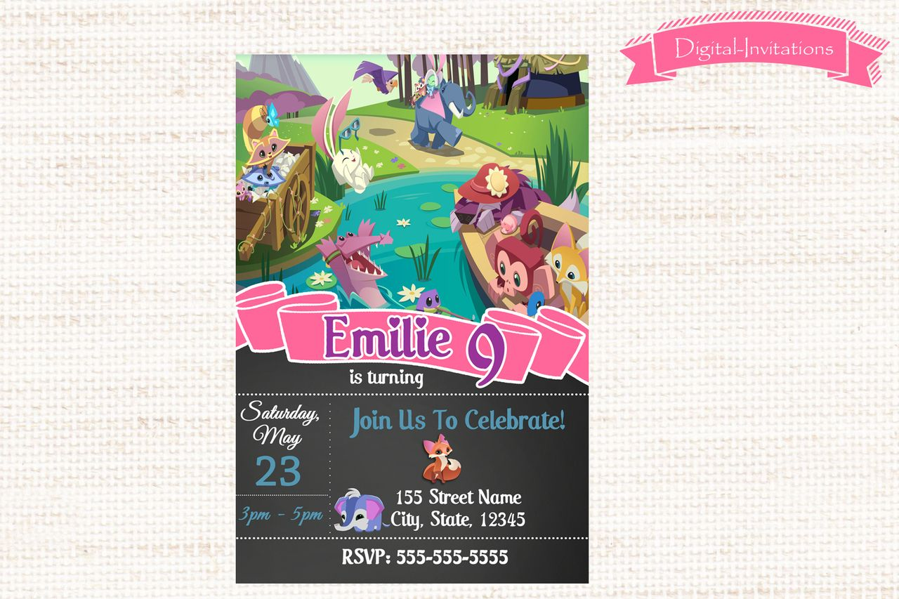 Animal Jam Invitation