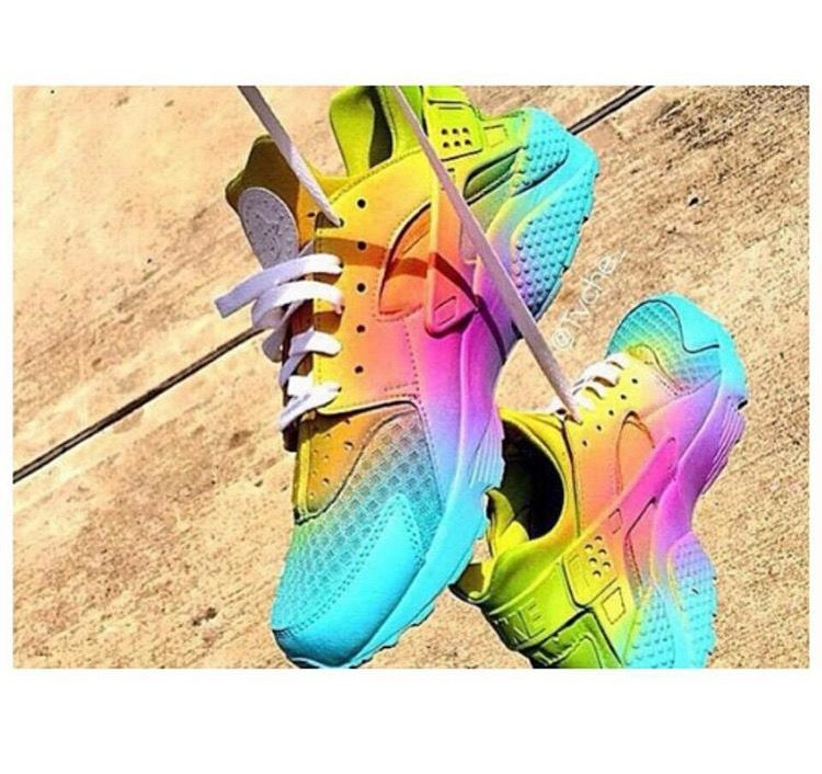 quality design 568ee 255e7 ... italy nike air huarache pastel colour multi colour rainbow sneakers  trainers dope footwear b5aaf 49960