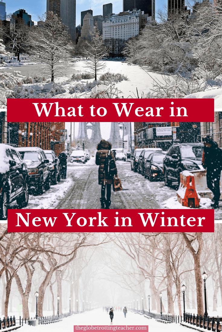 What to Wear in New York in Winter - Planning a winter or Christmas in New York trip? NYC gets pretty cold so use this what to pack for NYC in December, January, February guide to make sure you have what you need to have an unforgettable winter trip to New York City no matter when you visit! #travel #NYC #newyorkcity #newyork #packinglist #winter #christmas #holidayseason #packing #packingguide #whattopackfornewyork #wintergear #usatravel #christmasinnewyork #winterinNYC #manhattan