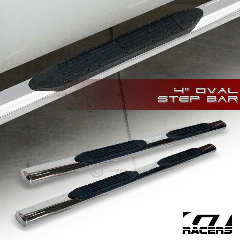 """For 2001-2003 F150 Supercrew//Crew Cab 4/"""" Black Side Step Nerf Bars Running Board"""