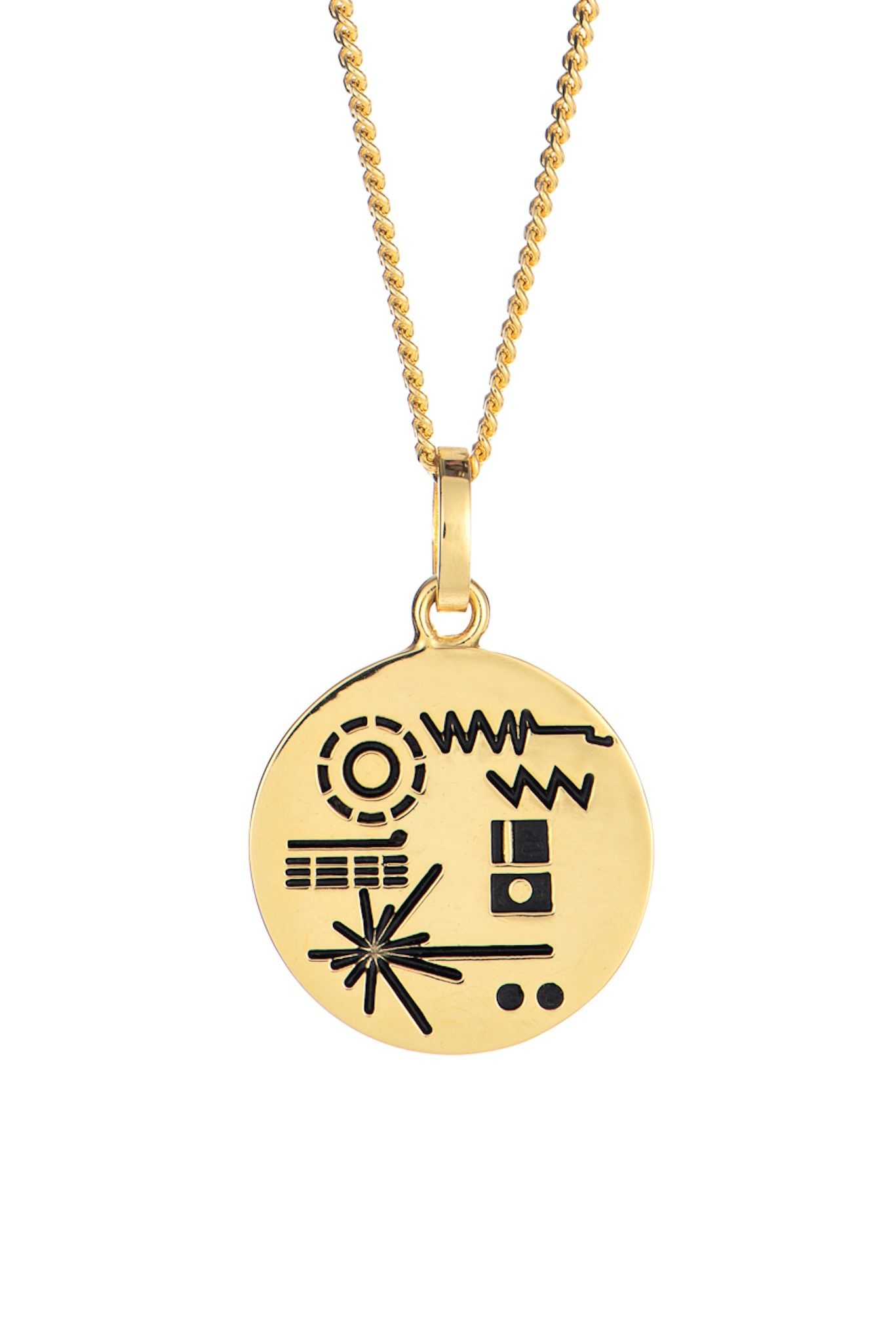 89da76401 Golden Record Necklace in 2019 | Little Rooms | Jewelry, Gold ...