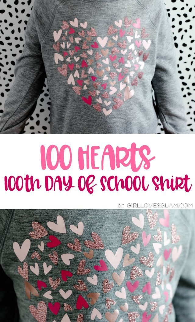 How to Make a Shirt With Many Types of Vinyl: 100 Day of School Shirt - Girl Loves Glam