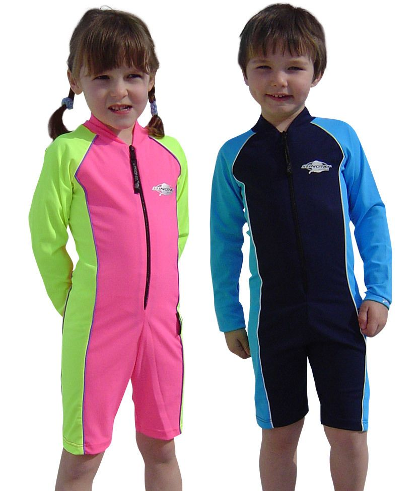 21c523e4162fd Solartex Sun Gear - Baby / Toddler UV Swimsuits - Long Sleeves - by Stingray ,