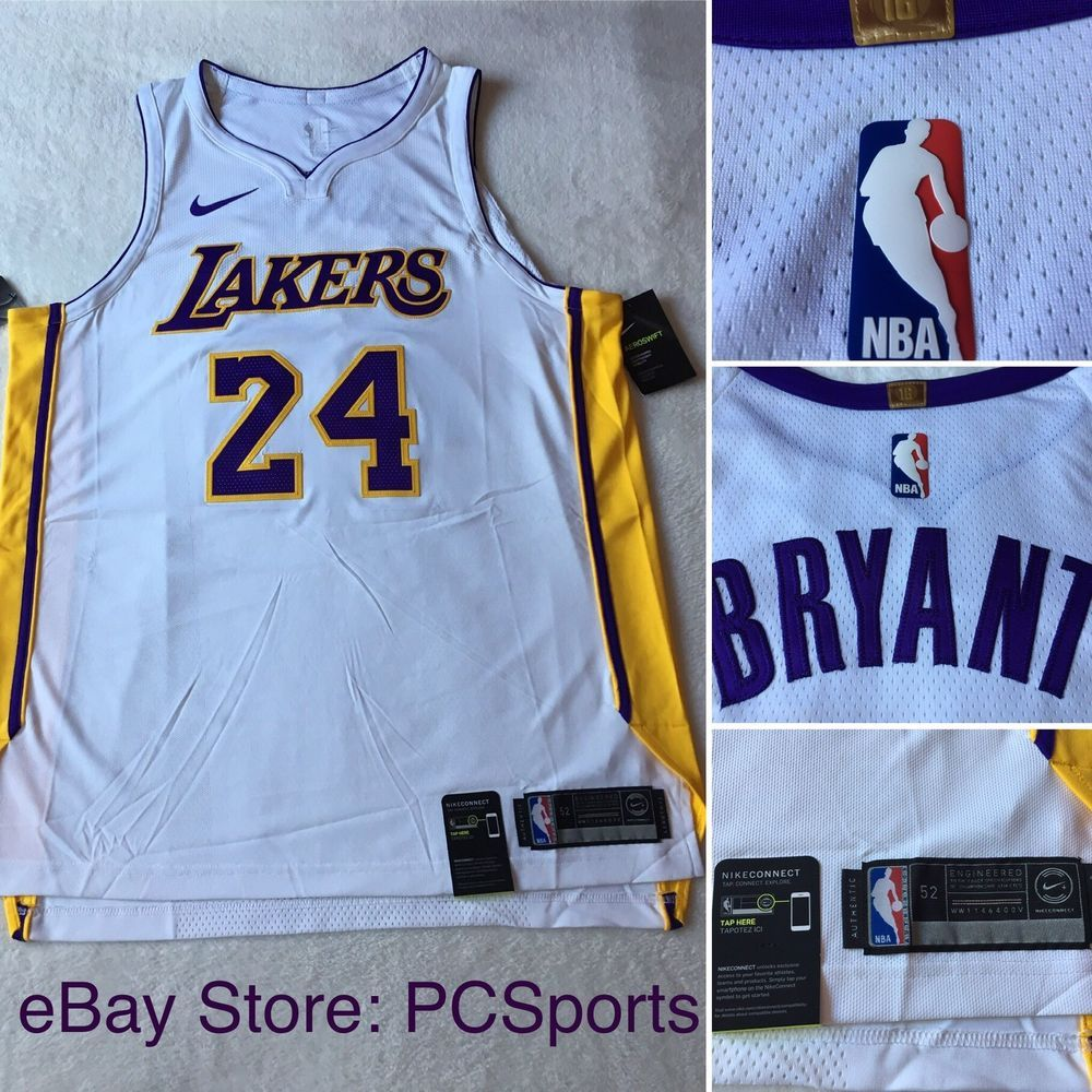 2989aa1e7609f Men's Nike Los Angeles Lakers Kobe Bryant Authentic Jersey AQ2106-100 Size  52 | eBay