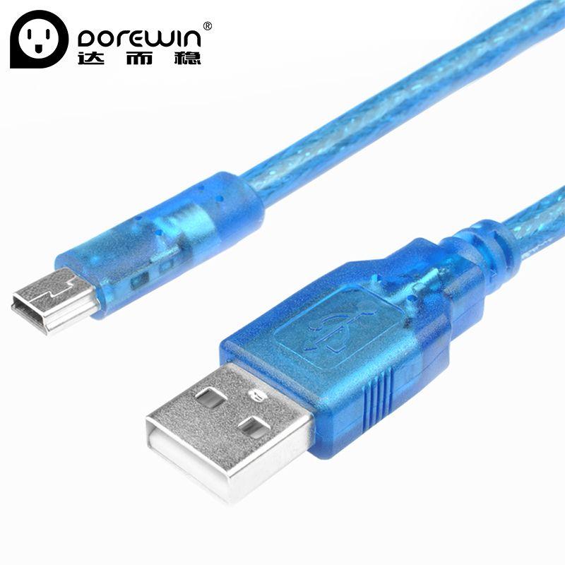 Dorewin 1m/1.5m Mini USB 2.0 Cable A Male to Mini USB 5Pin Male ...