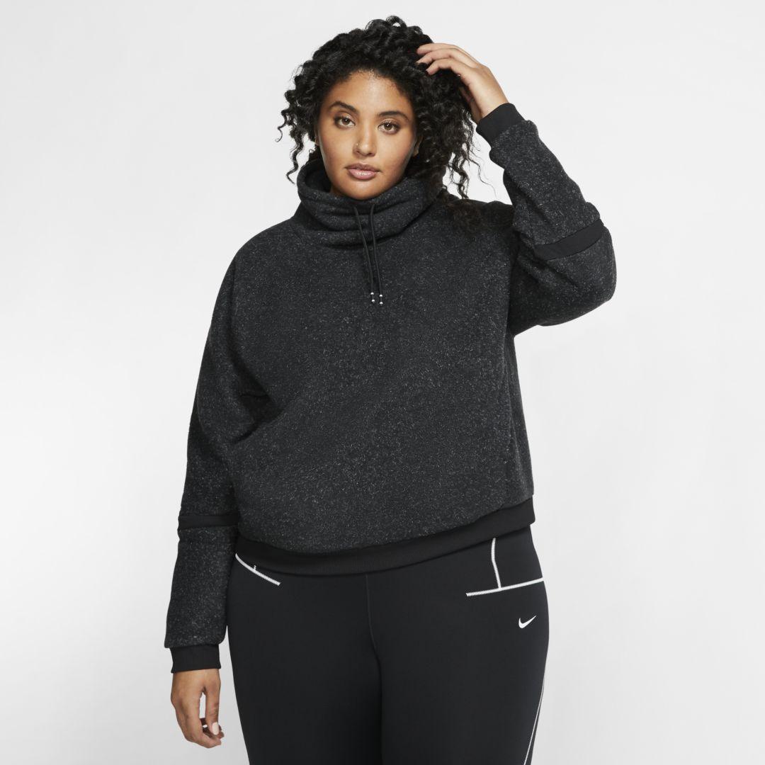 Photo of Nike Therma Women's Fleece Long-Sleeve Training Top (Plus Size). Nike.com