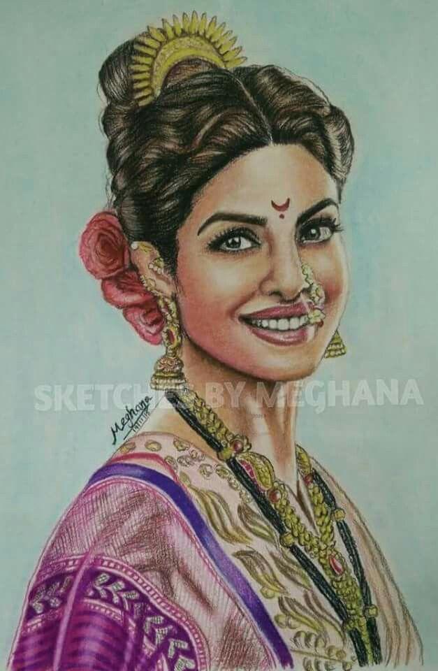 Priyanka chopra colour pencil drawing