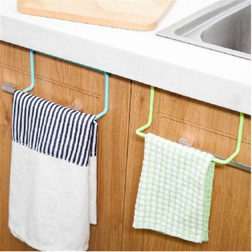 Towel Storage Rack Kitchen Rag Holder Hanging Cleaning Cloth ...