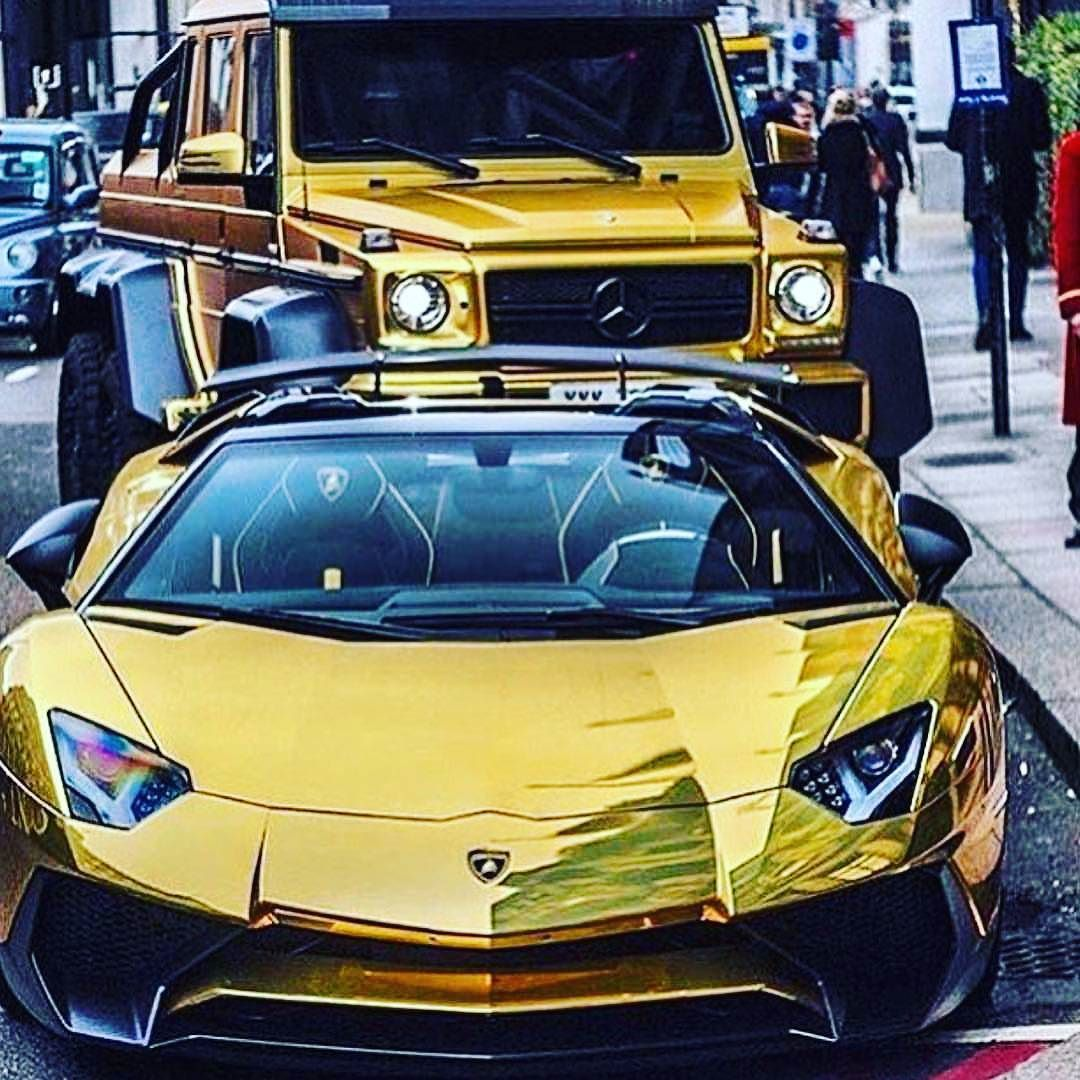 Rich Life Golden Lamborghini Vs Benz Bentley