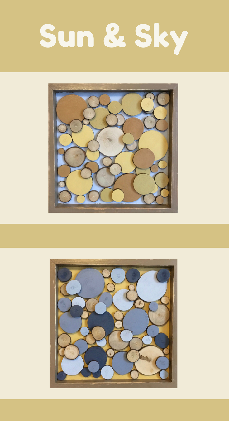 Wood wall art, Wood slice art, Wood slice wall art, Wood wall decor ...