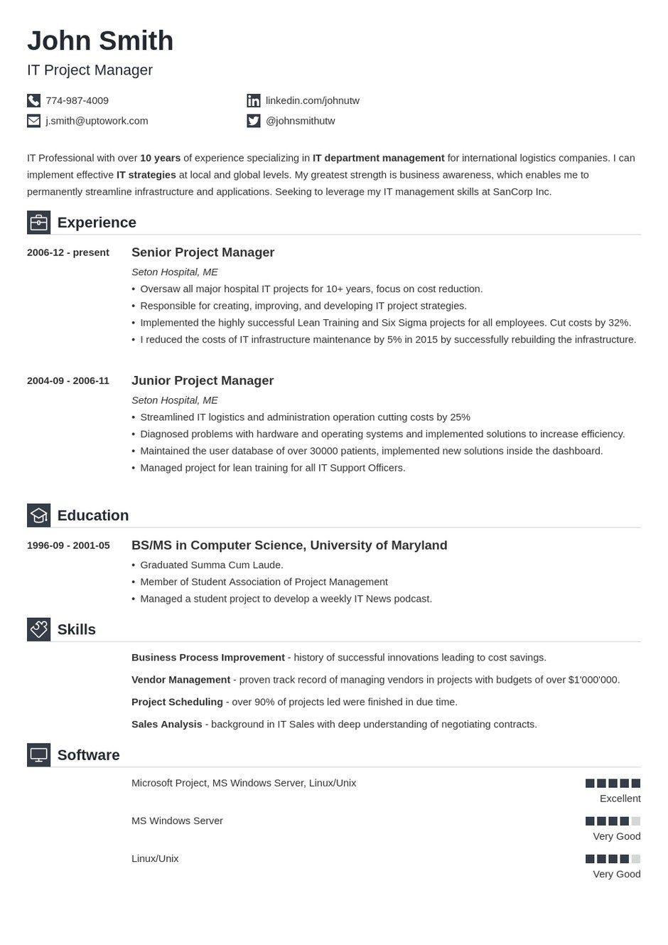 30 Professional Resume Templates