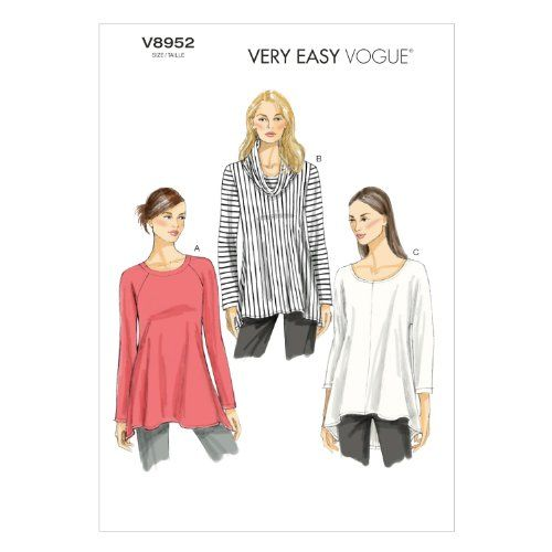 Vogue Patterns V8952 Misses\' Tunic Sewing Template, Size ZZ Vogue ...