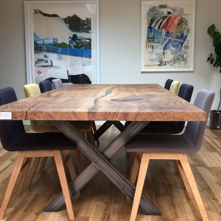 Photo of English Oak Dining Table by Earthy Timber UK