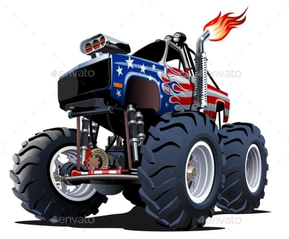 Cartoon Monster Truck Man Made Objects Objects Ch Joseph